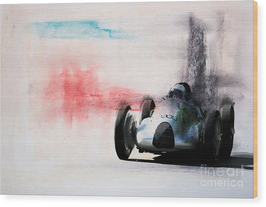 1938 Auto Union Type D Wood Print