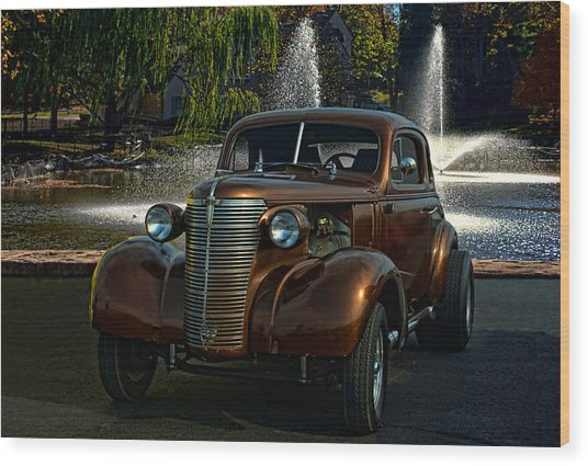 1938 Chevrolet Coupe Street Dragster Wood Print