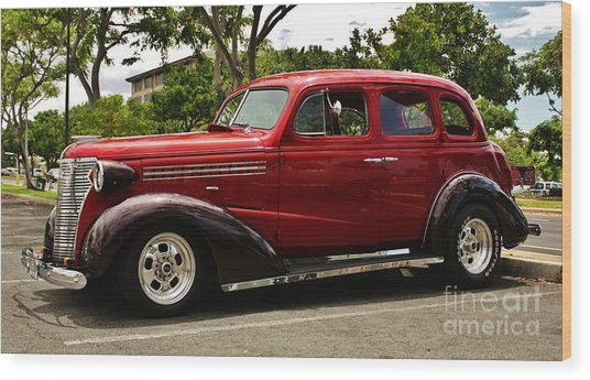 1938 Chevy 4 Door Sedan Wood Print