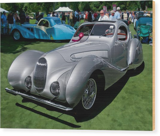 1938 Darracq/talbot Lago T150c Wood Print