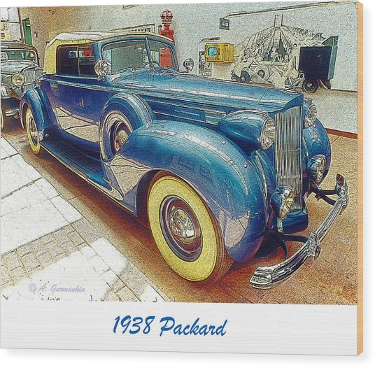 1938 Packard National Automobile Museum Reno Nevada Wood Print