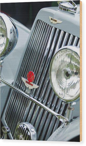 1939 Aston Martin 15-98 Abbey Coachworks Swb Sports Grille Emblems Wood Print