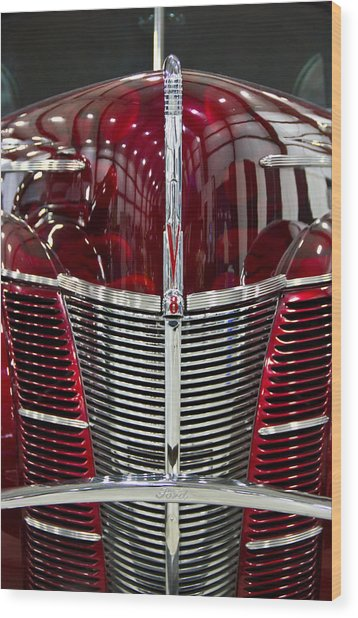 1940 Ford V8 Grill  Wood Print