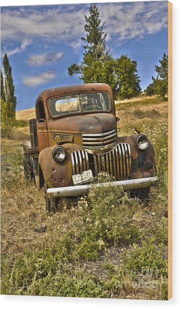 1940's Chevy Truck Wood Print by Camille Lyver