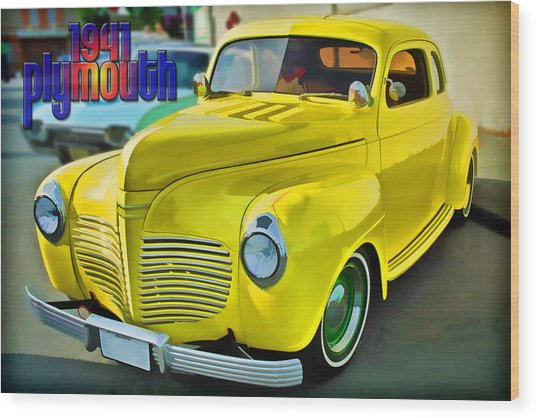 1941 Plymouth Wood Print