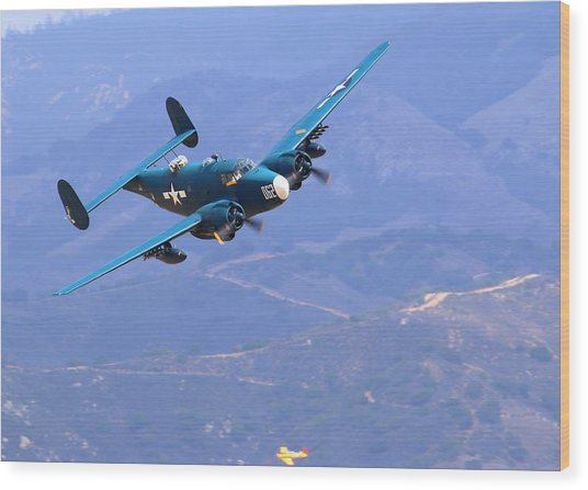 1944 Lockheed Pv-2 Harpoon Pays A Visit At The Salinas Air Show Wood Print by John King