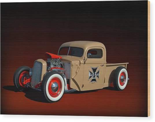 1946 Ford Hot Rod Pickup Wood Print