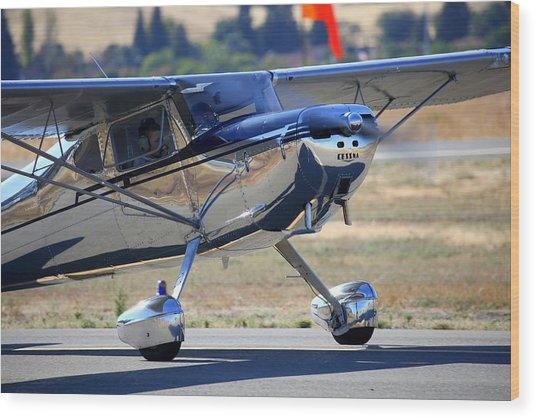1947 Cessna 140 A Little Closer N4151n Wood Print