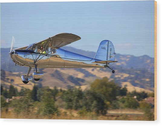 1947 Cessna 140 Climbing Out N4151n Wood Print