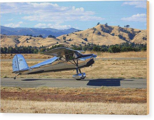 1947 Cessna 140 Taxiing N4151n Wood Print