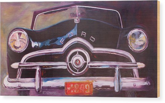 1949 Ford Wood Print by Ron Patterson