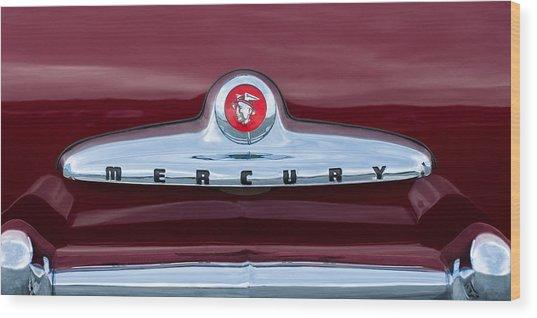 1949 Mercury Coupe Emblem Wood Print