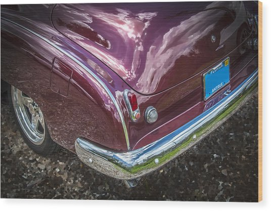 1950 Chevrolet Tailights And Bumper Wood Print