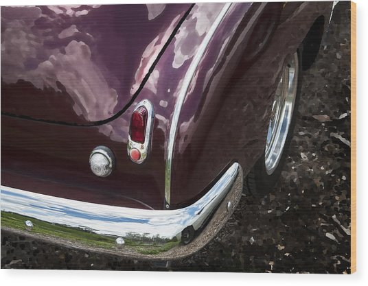 1950 Chevrolet Taillight And Bumper Wood Print