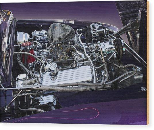 1950 Ford Mercury Engine Wood Print