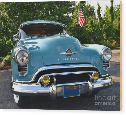 1950 Oldsmobile Wood Print