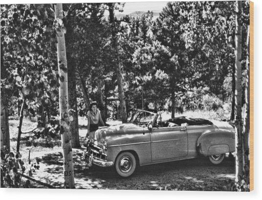 1950's Cadillac Wood Print