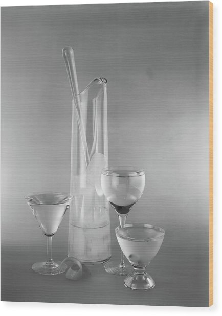 1950s Glass Martini Pitcher For Making Wood Print