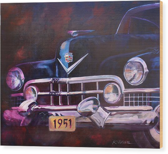 1951 Cadillac Wood Print by Ron Patterson