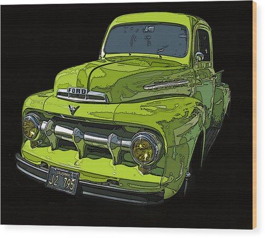 1951 Ford Pickup Truck Wood Print