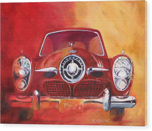 1951 Studebaker Wood Print by Ron Patterson