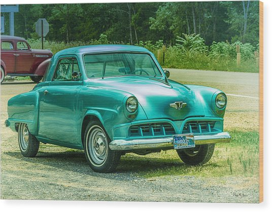 1952 Studebaker Wood Print by Barry Jones