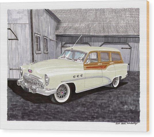 1953 Buick Estate Wagon Woody Wood Print