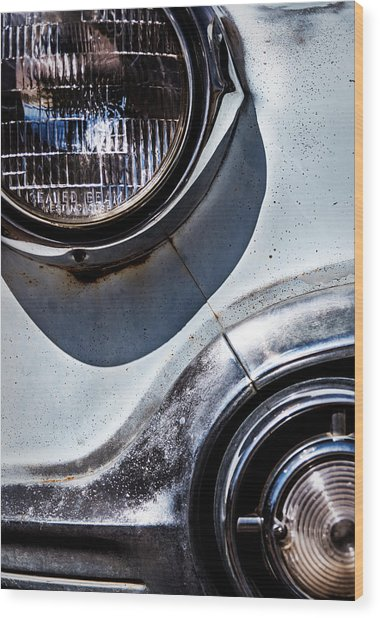1953 Chevy Headlight Detail Wood Print
