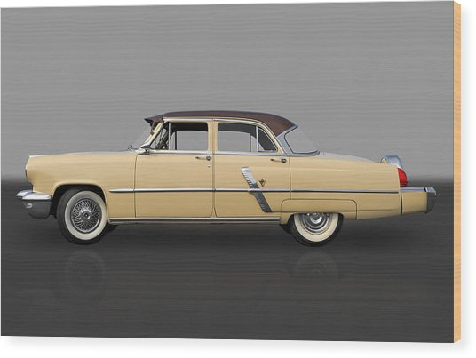 1953 Lincoln Wood Print by Frank J Benz
