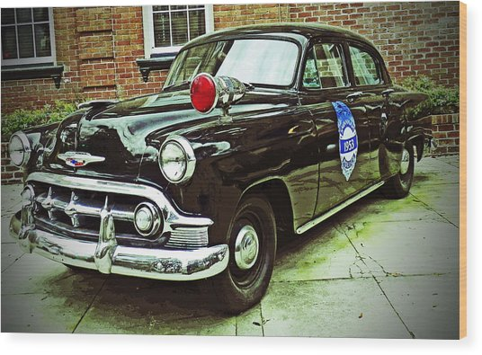 1953 Police Car Wood Print