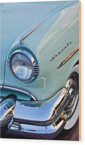 1954 Lincoln Capri Headlight Wood Print