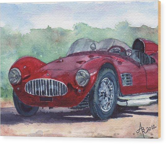 1954 Maserati A6 Gsc Tipo Mm Wood Print