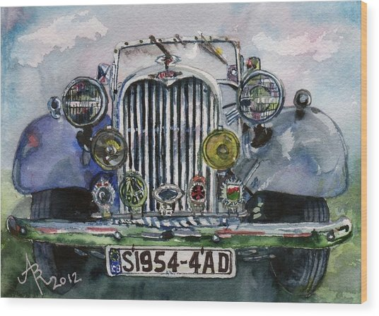 1954 Singer Car 4 Adt Roadster Wood Print