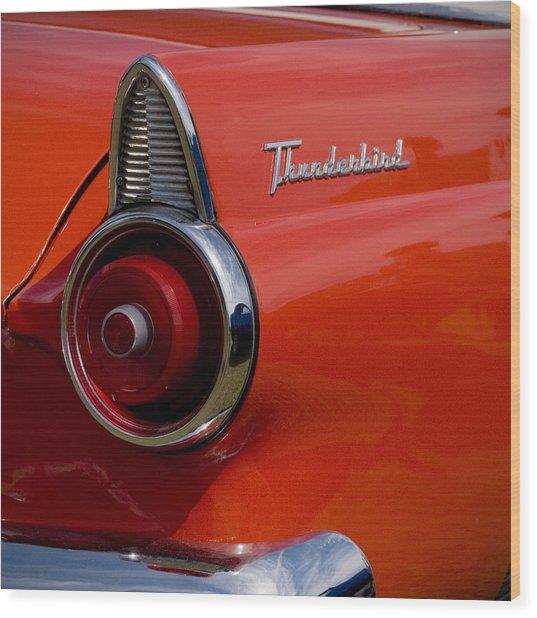 1955 427 Thunderbird Tail Light Wood Print