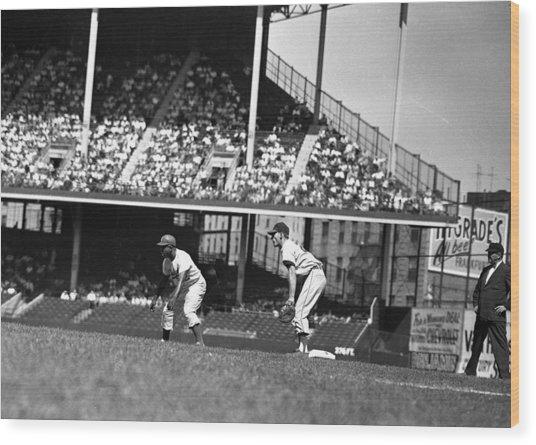1955 Brooklyn Dodgers Jackie Robinson Wood Print