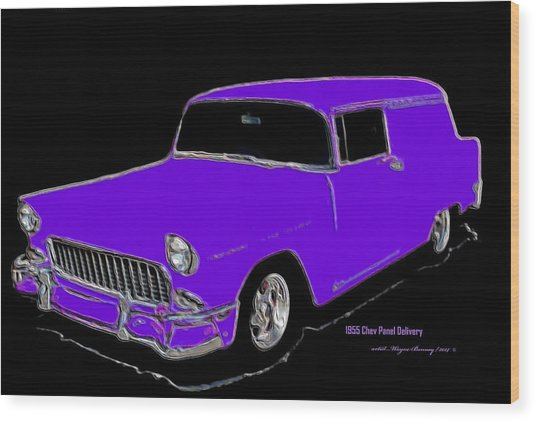 1955 Chev Panel Delivery P Wood Print