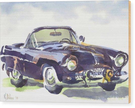 1955 Thunderbird Wood Print