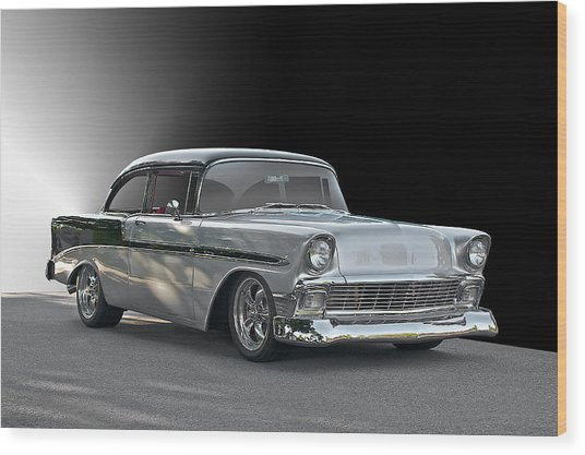 1956 Chevrolet 'post' Coupe Wood Print by Dave Koontz