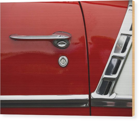 1956 Chevy Door Detail Wood Print