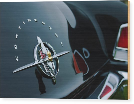 1956 Lincoln Continental Mark II Coupe Rear Emblem Wood Print