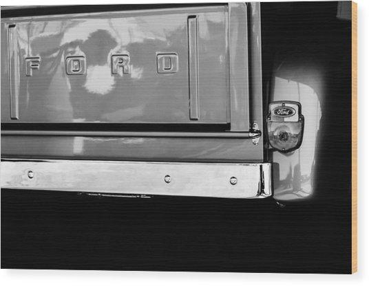 1956 Ford F-100 Truck Taillight Emblem Wood Print