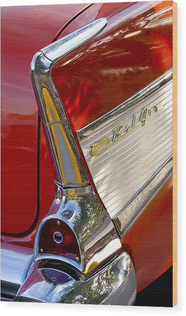 1957 Chevrolet Belair Taillight Wood Print