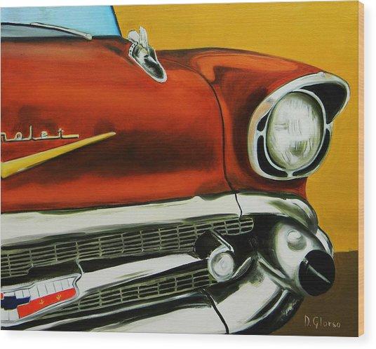 1957 Chevy - Coppertone Wood Print