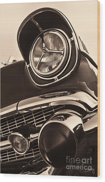 1957 Chevy Details Wood Print