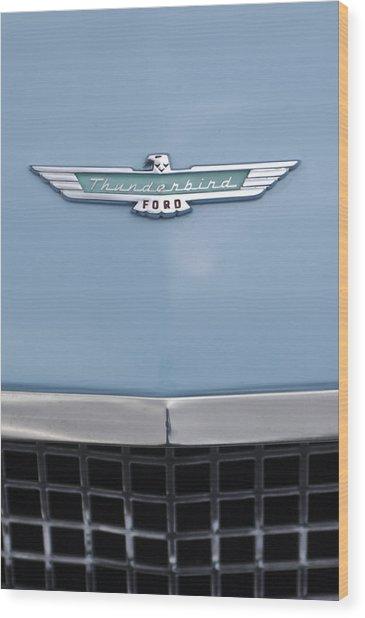 1957 Ford Thunderbird Hood Ornament 2 Wood Print