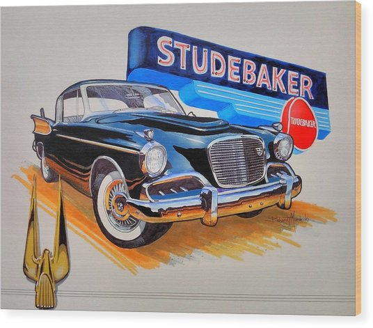 1957 Studebaker Golden Hawk Wood Print