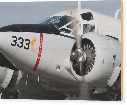 1957 Twin Beech E185 Taxis From The Ramp N5867 Wood Print by John King