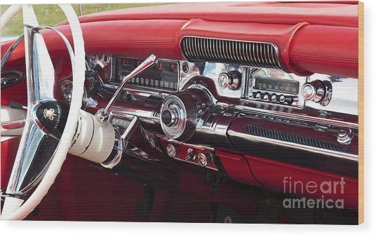 1958 Buick Special Dashboard Wood Print