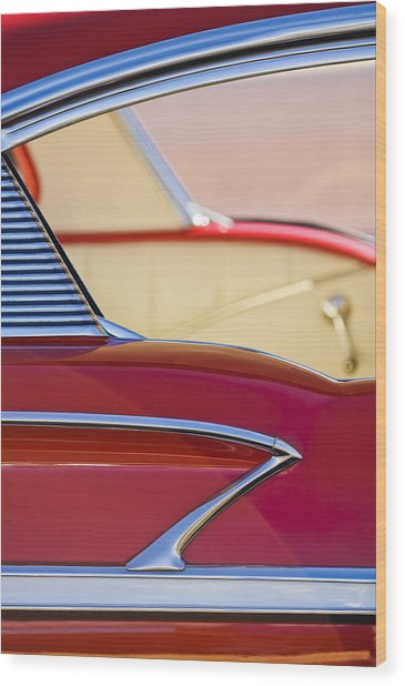 1958 Chevrolet Belair Abstract Wood Print