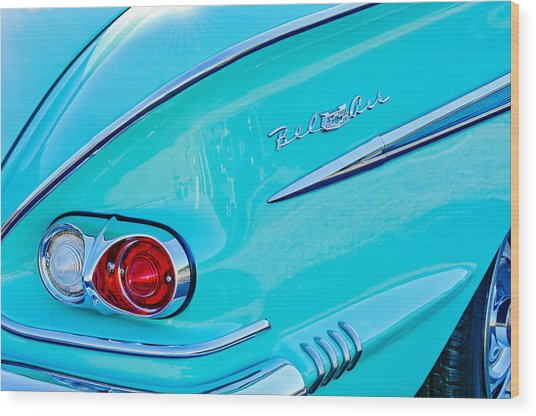1958 Chevrolet Belair Taillight 2 Wood Print
